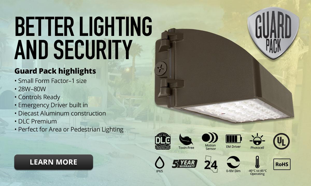 Atg Led Lighting Guard Pack Wall Pack