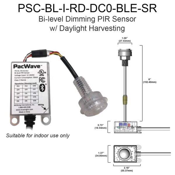 Bi Level Dimming Pir Sensor With Daylight Harvesting