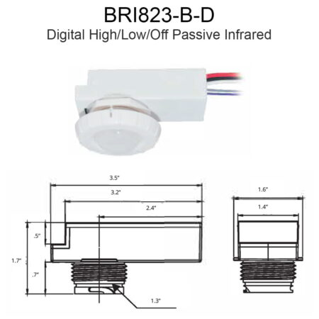 Bri823 B D Digital High Low Off Passive Infrared