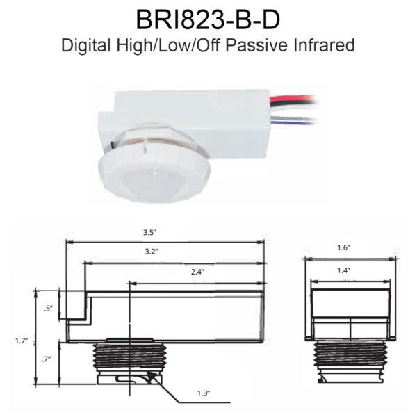 Bri823 B D Digital High Low Off Passive Infrared