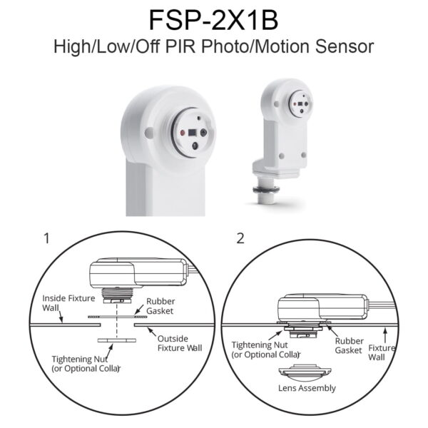 Fsp 2x1b High Low Off Pir Photo Motion Sensor