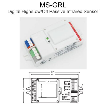 Ms Grl Digital High Low Off Passive Infrared Sensor